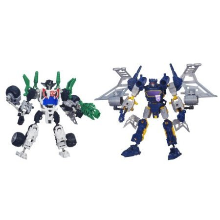 Transformers Construct-Bots Elite Class Wheeljack and Soundwave Buildable Action Figures