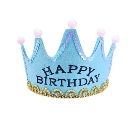 ViviS-LED-Light-Crown-Party-Hat-Happy-Birthday-Printed-Party-Supplies-BLUE