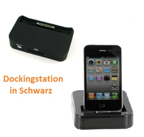 Dockingstation für IPHONE 4 4S - SCHWARZ - Dockingstation iPhone 4S / 4G Ladegerät