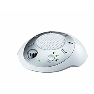 homedics sound spa portable sound machine white health personal care. Black Bedroom Furniture Sets. Home Design Ideas