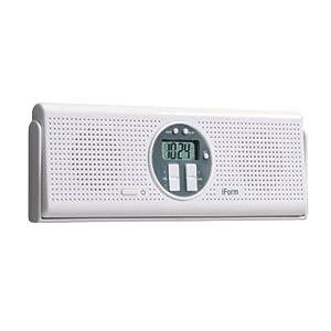 InterDesign iForm Shower Radio, White