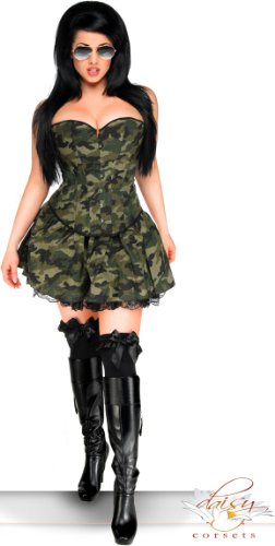 Daisy corsets Women's Army Halloween Costume (3 Piece)