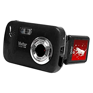 Vivitar (V7028-Blk) 7MP Twist Digital Camera with 4x Digital Zoom - Black