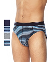 4 Pack Cool & Fresh™ Stretch Cotton Striped Slips with StayNEW™