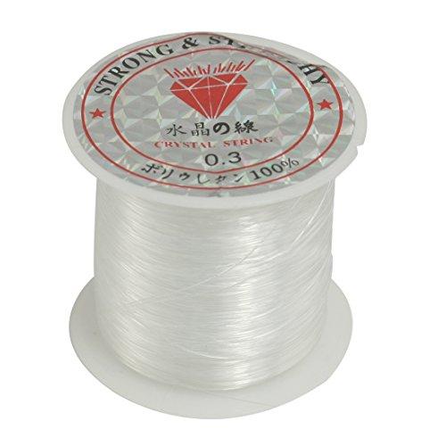 Jewelry Beading Thread 0.3mm Dia. Clear Nylon Fishing Line Spool 17 Lbs
