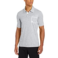 Adidas Golf Mens Climalite Angular Heather Pocket Jersey Polo by adidas
