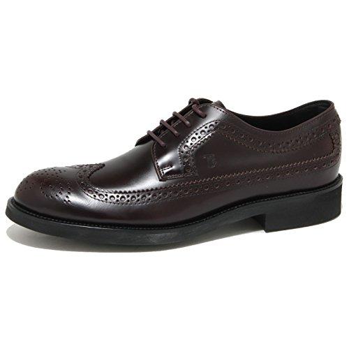1019O scarpa allacciata TOD'S DERBY bordeaux scarpe uomo shoes men [10]