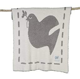 Barefoot Dreams CozyChic Covered In Prayer Receiving Blanket (Bless This Child), Linen/Cream