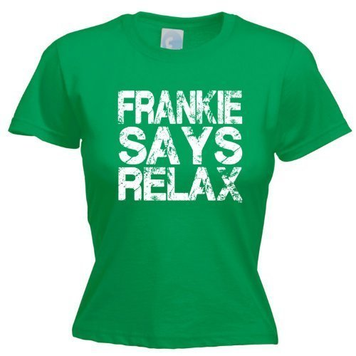 LADIES FRANKIE SAYS RELAX DISTRESSED LOOK (M - KELLY GREEN)