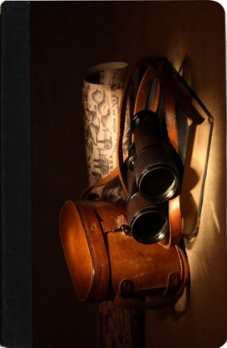 Rikki Knighttm Vintage Old Binoculars With Bag - Noble Nook® Colortm Notebook Case