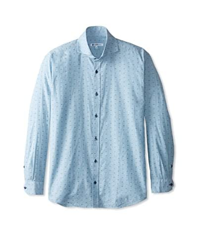 CaféBleu Men's Italo Patterned Long Sleeve Shirt