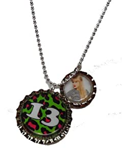 Taylor Swift 13 Bottle Cap Charm Necklace