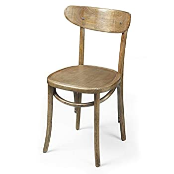 Joveco Vintage Antique Style Solid Elm Wood Dining Chair - Set of 2