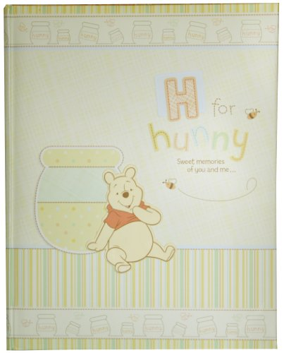 Disney Winnie the Pooh First 5 Years Keepsake Baby Memory Book, H for Hunny