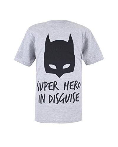 ZZ-DC Comics Camiseta Manga Corta Batman Disguise Blanco