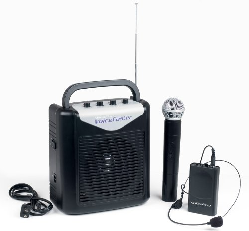 Vocopro Voicecaster Rechargeable Portable Pa System With Wireless Microphone