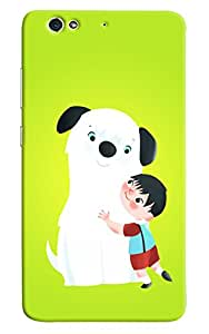 Omnam boy love with dog back cover for Gionee S6