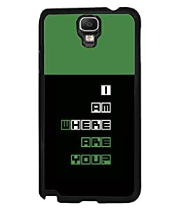 printtech Cool Quotes Back Case Cover for Samsung Galaxy Note 3 Neo N7505