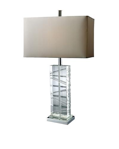 Artistic Lighting Avalon 1-Light Table Lamp, Chrome/Crystal