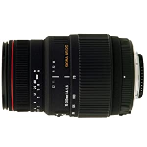 Sigma 70-300mm f/4-5.6 DG APO Macro Motorized Telephoto Zoom Lens for Nikon SLR Cameras