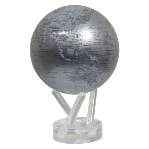 Mova Globes Mova Rotating Silver Earth 4.5 In. Diam. Globe, Other Colors
