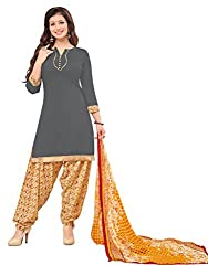 Women Icon Presents Grey Printed Un-Stitched Dress Material WICKFRPSP1414008