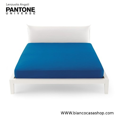 Lenzuolo Sotto con angoli MATRIMONIALE Bassetti PANTONE Universe Var.1369 Turkish Sea (Bluette)