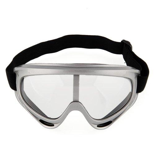 {Factory Direct Sale} Adult MEN Motorcycle Motor Motorbike Dirt Bike *ATV Helmet MX Off Road Goggles Goggle Glasses Scooter shatter-proof Windproof (Sliver)