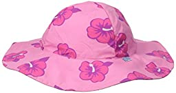 i play. Baby Girls\' Brim Sun Protection Hat, Pink Hibiscus, 9-18 Months