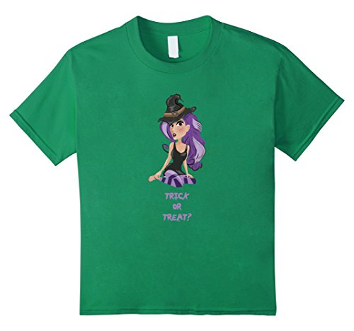 [Kids Trick Or Treat Sexy Pin-Up Witch Halloween Costume Tee Shirt 10 Kelly Green] (Pin Up Girl Costume Ideas Diy)