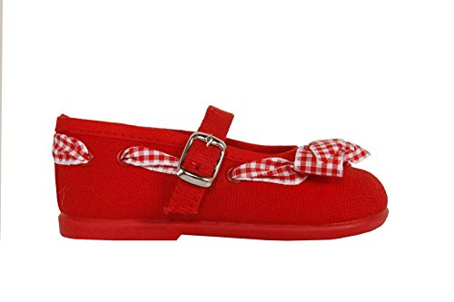 Ballerine per Bambina COTTON CLUB CC0005 ROJO size-map 20