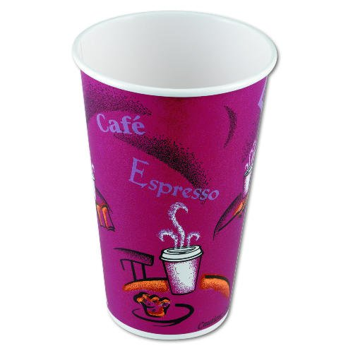 Hot Drink Polylined Paper Cups in Maroon