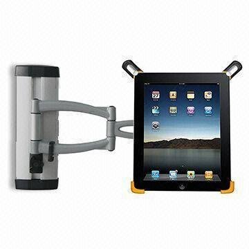 GSI Super Quality Height-Adjustable Wall Mount For Apple iPad Tablet 3G/Wifi, Tilting And Swinging Bracket - For Handsfree Video And Picture Browsing