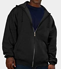 Fruit of the Loom Men's Fleece Zip Hood