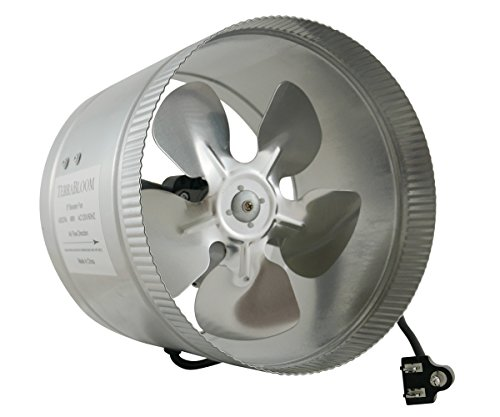 TerraBloom Inline Fan 400 CFM, 8 Inch, Duct Booster For Exhaust and Intake Ventilation (Exhaust Fan 400 compare prices)