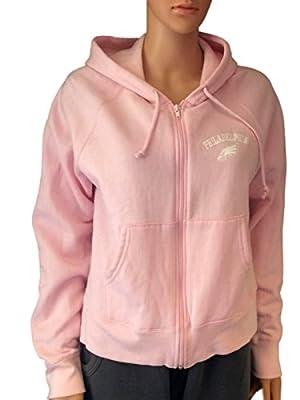 Philadelphia Eagles Reebok Pink Zip Front Women's Hoodie Sweatshirt