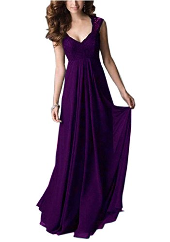 REPHYLLIS Women Sexy Vintage Party Wedding Bridesmaid Formal Cocktail Dress(S,Purple)
