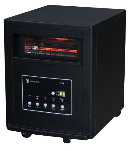 Homegear Pro 1500w Large Room Infrared Space / Cabinet Heater w/ Remote (Mica Radiator Heater compare prices)