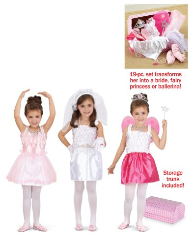 Make Believe Girls Dress Up Toy Costume Trunk