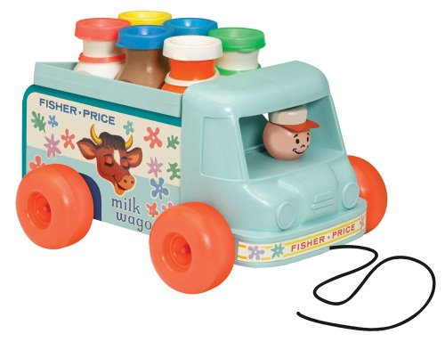 Basic Fun Fisher Price Milk Wagon
