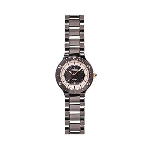 Charmex San Remo Homme 43mm Noir Céramique Bracelet Date Montre 2690