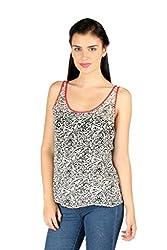 Aaliya Woman Viscose Georgette Sleeveless Casual Top - Multicolor, XS