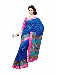 First Loot Designer Party Wear Raw Silk Blue Saree -2375