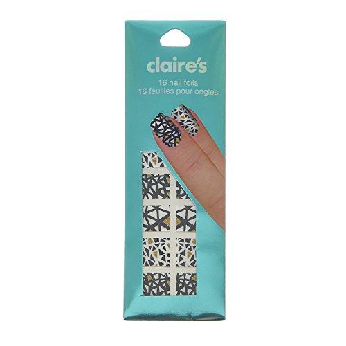 Claire's - Femmes - Autocollants Cœur Dorés Pour Les Ongles - Or