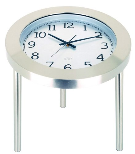 Cheap Clock Accent End Table – Time Table Satin Steel Finish (AZ00-32467×18009)