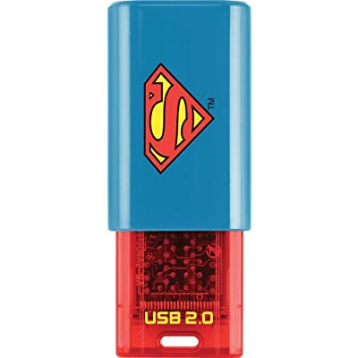 EMTEC Click 8 GB USB 2.0 Flash Drive, Superman