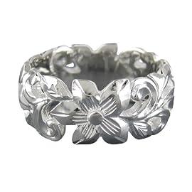 925 Silver Hawaiian Filigree Scroll Ring Hawaiian Silver Jewelry