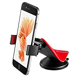 ZiLu Universal Smart Phone Car Mount Dashboard and Windshield Holder Cradle for iPhone 6/ 5s/ 5c/, Samsung Galaxy S6/S6 Edge/ S5/S4/ S3/ Note 4/3, Google Nexus 5/4, LG G3 and other Smartphones