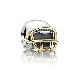 Pandora Charm Football Helmet w/14K 790570