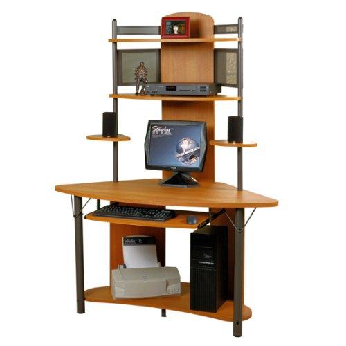 Buy Low Price Comfortable Corner Computer Desk with Hutch (B0052VP0K2)